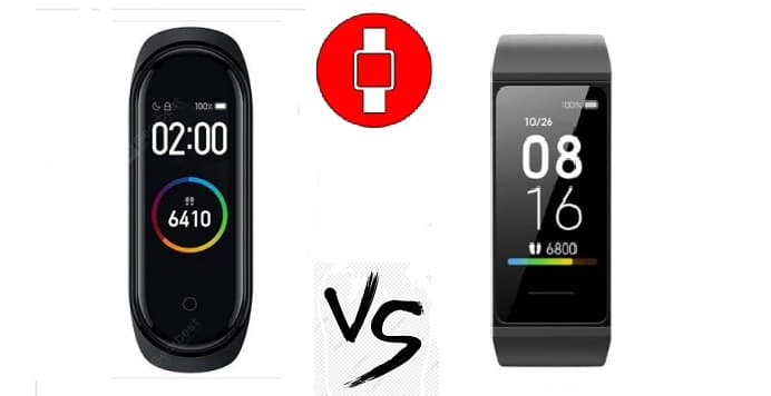 Xiaomi redmi band vs mi band 4