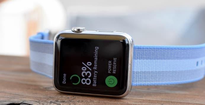 mejorar la duración de la batería del Apple Watch